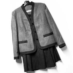 NWOT Givenchy Wool Two-Piece Skirt Suit